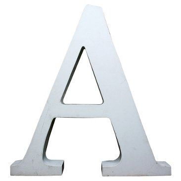 Check out this item at One Kings Lane! Large White Marquee Letter A