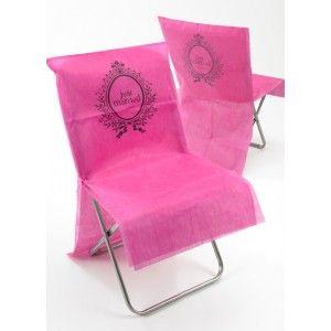 housse de chaise just married intiss fuchsia pink les 10 wedding pink mariage pink - Patron Housse De Chaise Mariage Gratuit