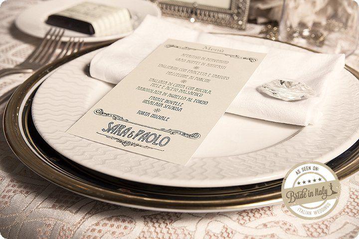 Déco inspired Wedding Stationery, by Sweetness Eventi. Ph Elena Preti http://www.brideinitaly.com/2013/11/missweddingdesignanneesfolles.html #vintage #20s #italianstyle #wedding