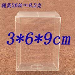 ПВХ #53 3x6x9 см Свадебные ПВХ Окна ясно Подарок Ремесло дисплей Окно небольшие Ювелирные Изделия упаковки держатель Прозрачная Прозрачная пластиковая коробка