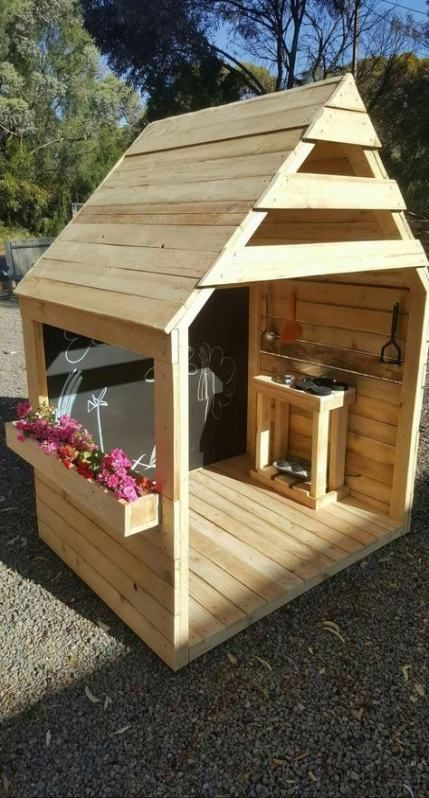 Super wood house kids playhouses forts Ideas