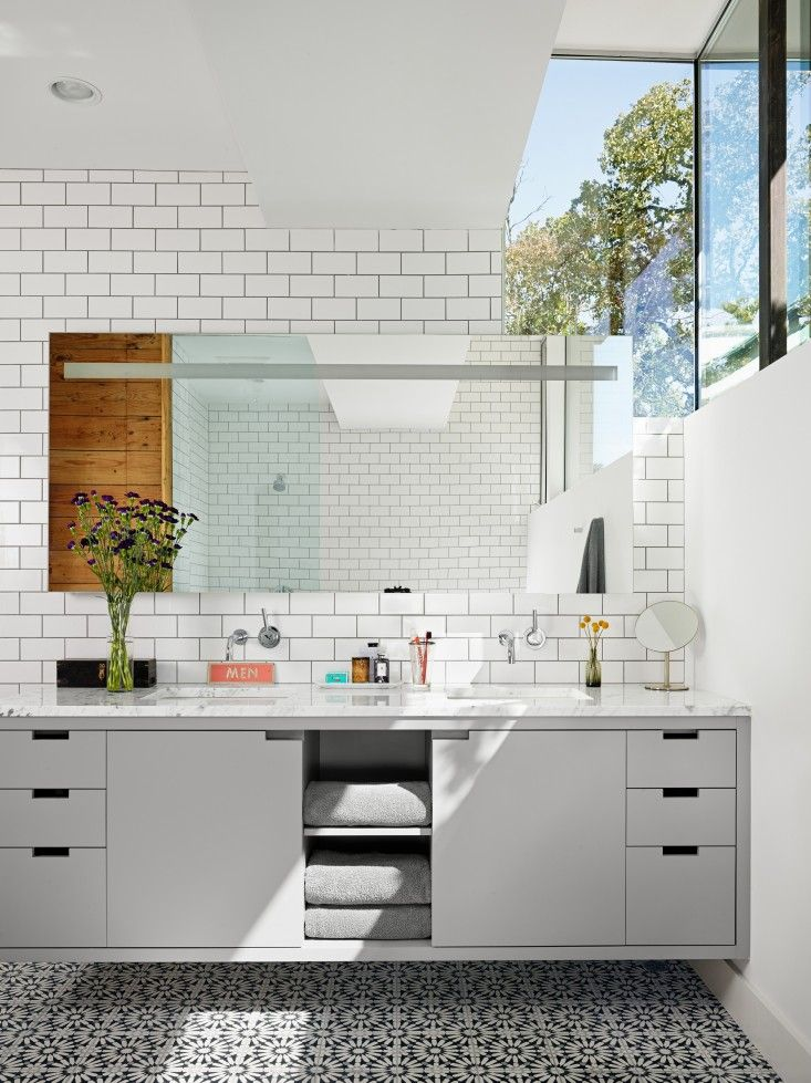 Reinvented, Austin Edition  Vanities, Double Vanity and Subway Tiles