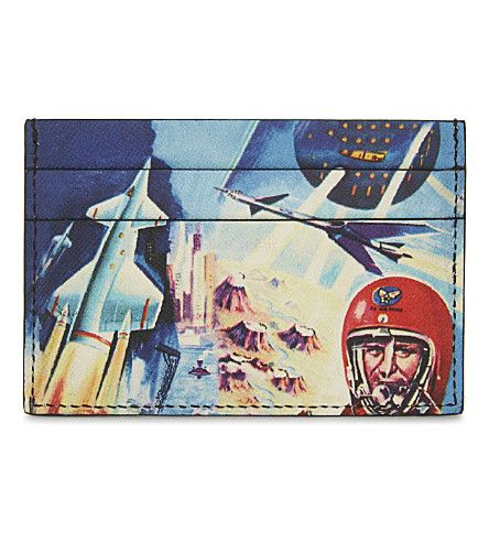 PAUL SMITH ACCESSORIES - Crayon Space leather card holder | Selfridges.com