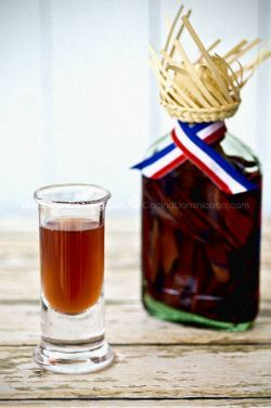 Mamajuana •Any bottle of red wine  •Bottle of Brugal Domincan Rum (or any dark rum you like)  •Honey   Put half of the bottle of rum. Put 40% of red wine. Put the rest in honey. Let it sit for at least another week - One Week Later - Drink (Shots should come out smooth)