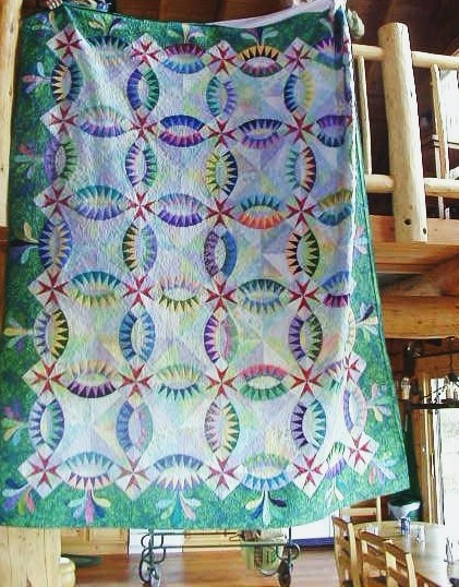 """""""For Abby"""" by Judy Niemeyer and quilted by Madeleine Vail"""