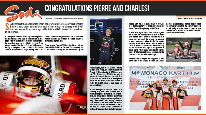 Congratulations Pierre and Charles!