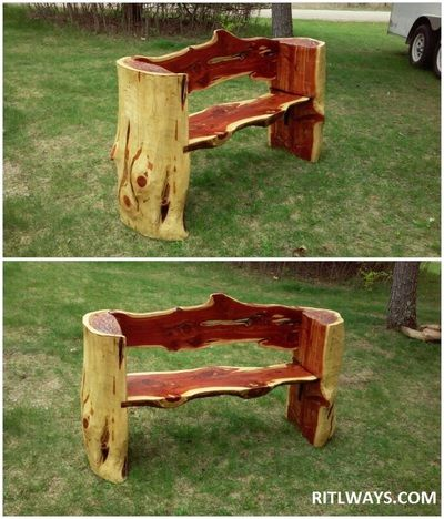 Chainsaw Carvings in Missouri Lake of the Ozarks and Wisconsin     ritlways com. Best 25  Cedar bench ideas on Pinterest   Live edge furniture  Usd