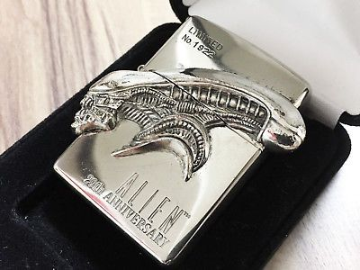 "ZIPPO Limited Edition ALIEN 20th Anniversary Giger ""Xenomorph"" Lighter No.1922"