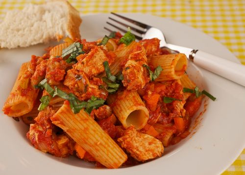 Leftover Turkey with Rigatoni