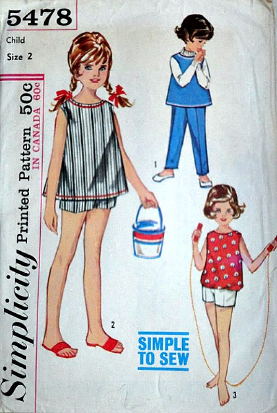 Vintage 60's Child's Top And Boxer Pants by MemoryMadeMercantile