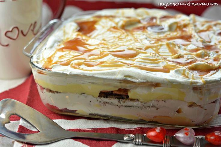Vanilla Caramel Cookie Lasagna - Hugs and Cookies XOXO
