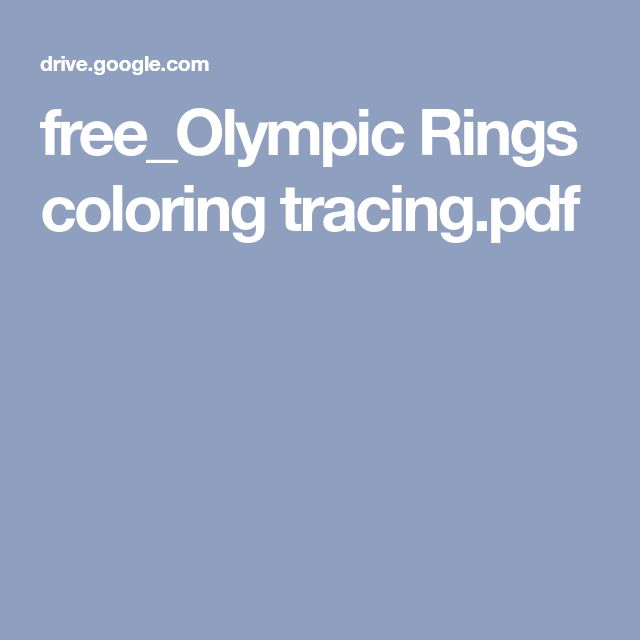 free_Olympic Rings coloring tracing.pdf