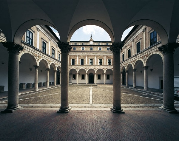 Courtyard of the Ducal Palace of Urbino, Le Marche, Italy