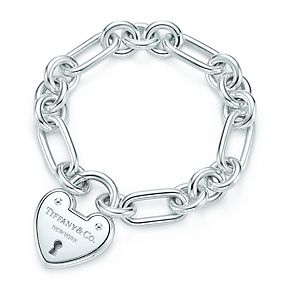 Tiffany Locks heart lock bracelet in sterling silver, medium. love this!
