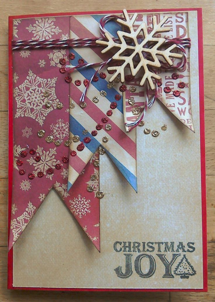 Dovecraft North Pole Banner Christmas Card by Louise