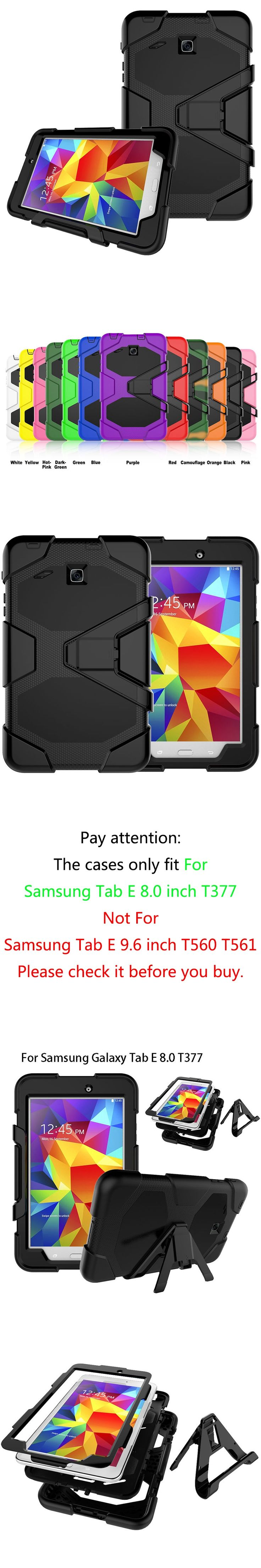 Armor Cover For Samsung Galaxy Tab E 8.0 Case T377 SM-T377V Cases Kickstand Tablet Shockproof Heavy Duty With Stand Shell Funda