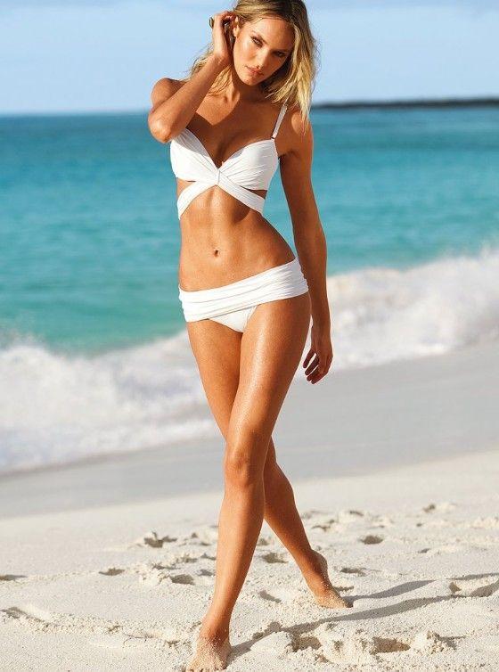 Candice Swanepoel in Victoria's Secret swimwear shoot.