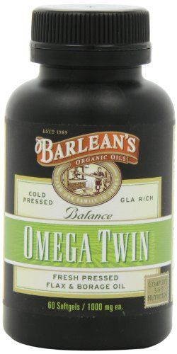 Omega Twin Flax/Borage Blend Barleans Omega Twin is a significant advancement in essential fatty acid nutrition. This product combines our organic flaxseed oil, the world richest source of alpha-linolenic acid (LNA) Omega-3 with our borage oil, the worlds richest source of gamma-linolenic acid... more details at http://supplements.occupationalhealthandsafetyprofessionals.com/herbal-supplements/flaxseed/product-review-for-barleans-organic-oils-fresh-omega-twin-1000-mg-softgels