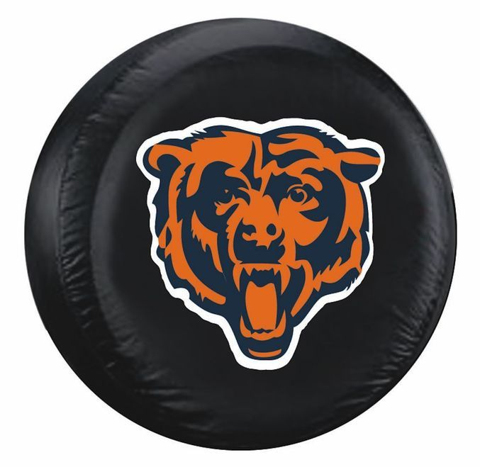 Chicago Bears Black Tire Cover - Size Large Z157-2324598301