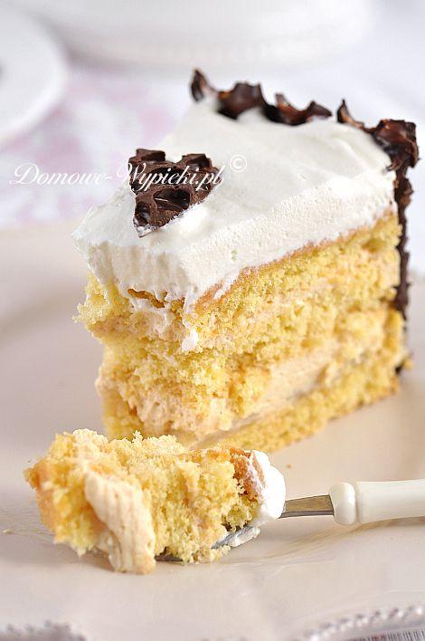 Tort śmietankowo- karmelowy