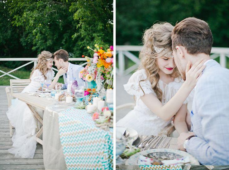Wedding style Boho chic. Design studio - NNdecor, Muah - Sveta Mar,t Photo - Yana Yartseva