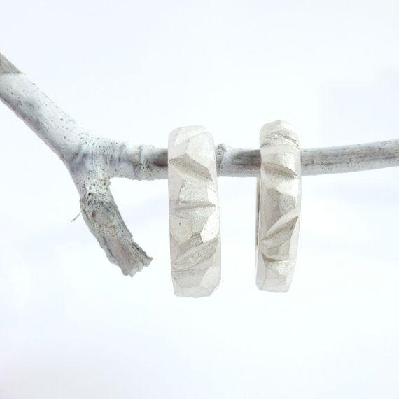 Sterling zilveren rotsringen unieke trouwringen door WOLFjewels