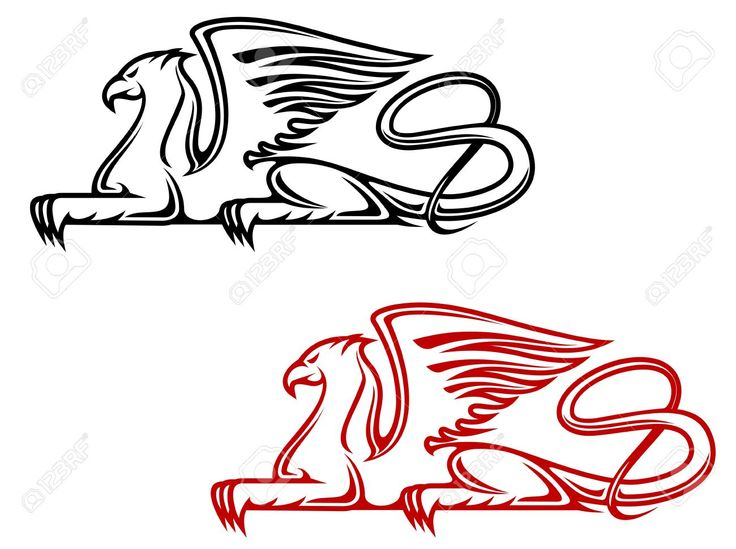 Vintage Griffin For Heraldic Or Tattoo Design Royalty Free ...