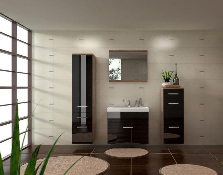 Elegantní koupelnu Gloria v atraktivní černé lesklé barvě pořídíte za 5 438 korun. http://www.mabyt.cz/32785-koupelnovy-nabytek-gloria.htm