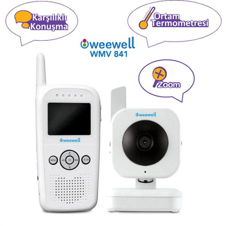 Weewell WMV841 Kameralı Telsiz Karşılıklı Konuşma Ortam Isısı Özellikli