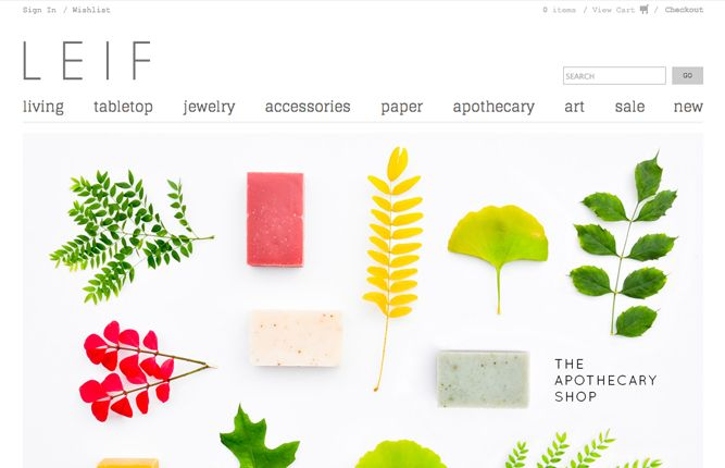 Leif-30 Beautiful and Creative #Ecommerce Website Designs — Ecommerce Blog by @Shopify #webdesign