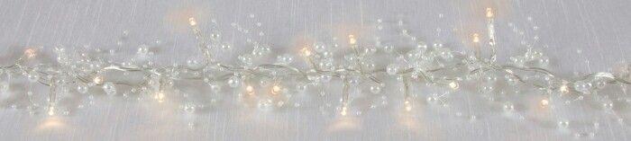 Pearl white LED lights. Wedding decor.