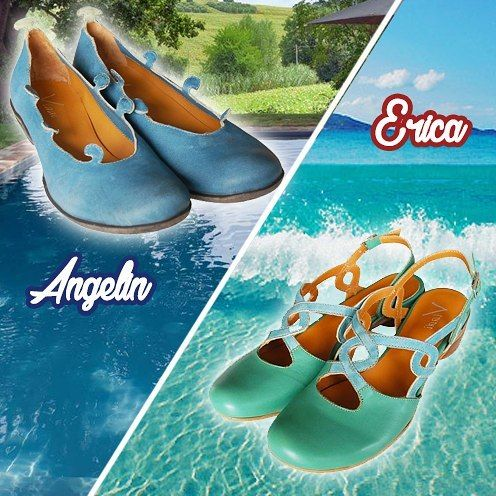 Are you feeling the call of summer and dream about being on the beach or at the pool? With the SS2017 Vladì Shoes collection you'll feel like you're on vacation! Your choice between the original Angelin and the dreamer Erica.