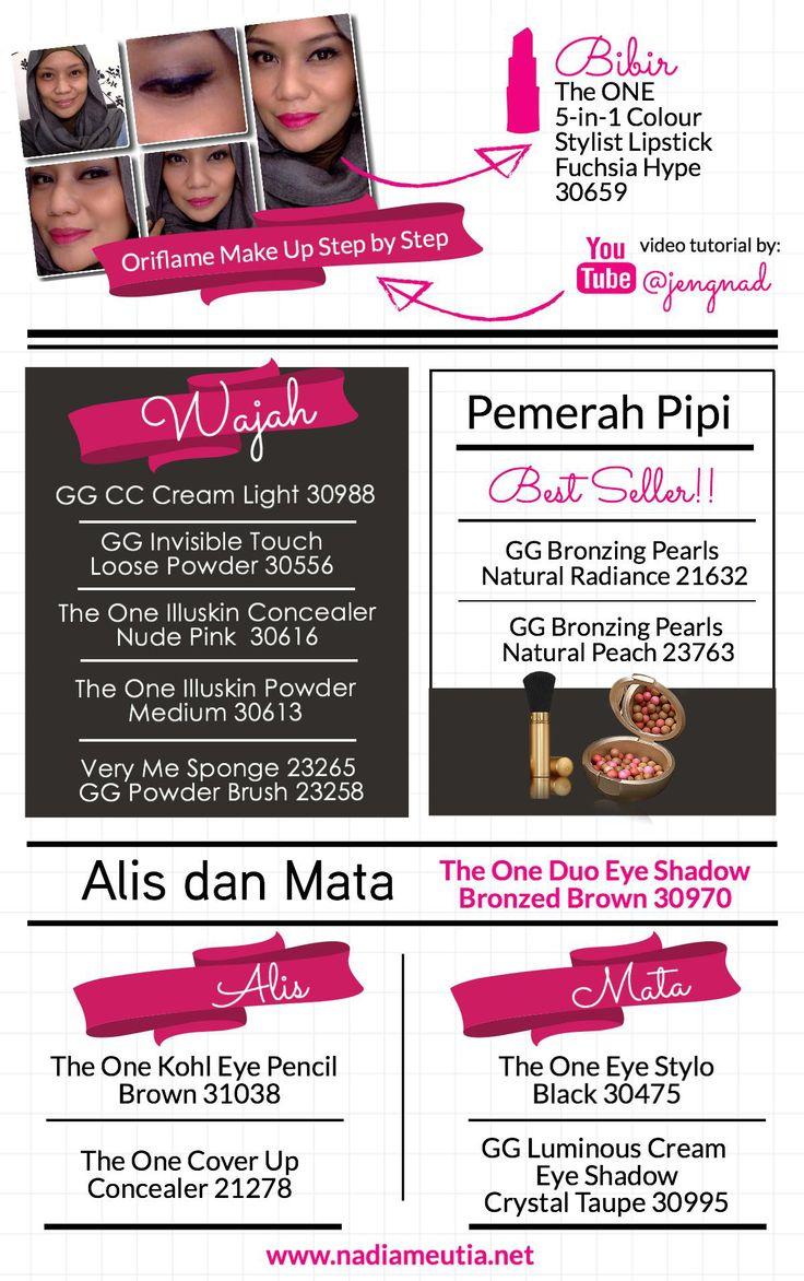 Dandan pake all Oriflame! :) Kali ini nuansa nge-pink yaaa...  #oriflame #jengnad #bisnisdarirumah #bekerjadarirumah #dandan #tutorial #makeup #bisnisonline