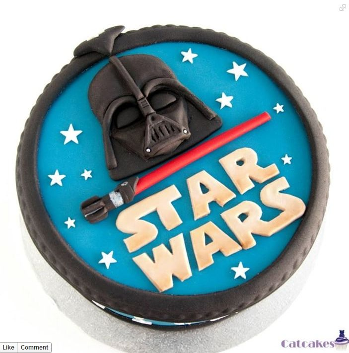 Starwars cake darth vader for all your cake decorating supplies please visit craftcompany - Star wars birthday cake decorations ...
