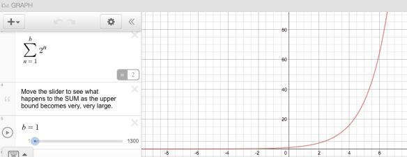 Exploring Convergent and Divergent Geometric Series with Desmos