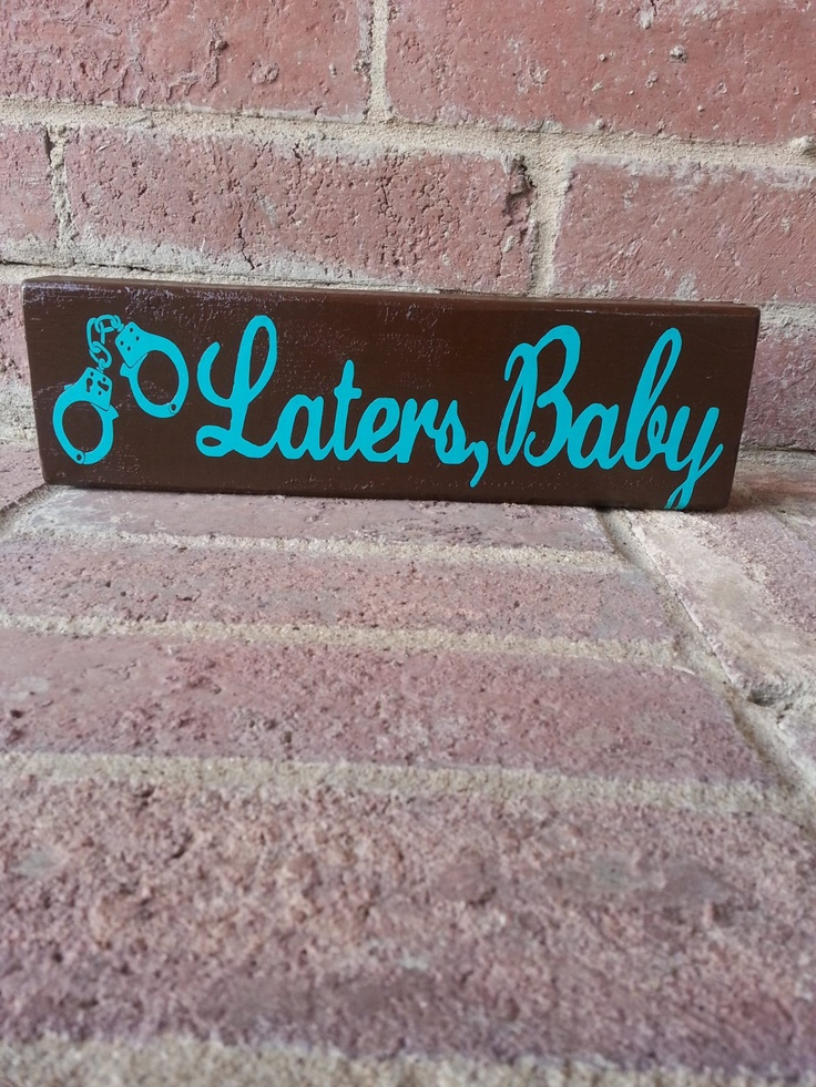 Fifty Shades of Grey quote Laters Baby by ABlockAway on Etsy, $10.00