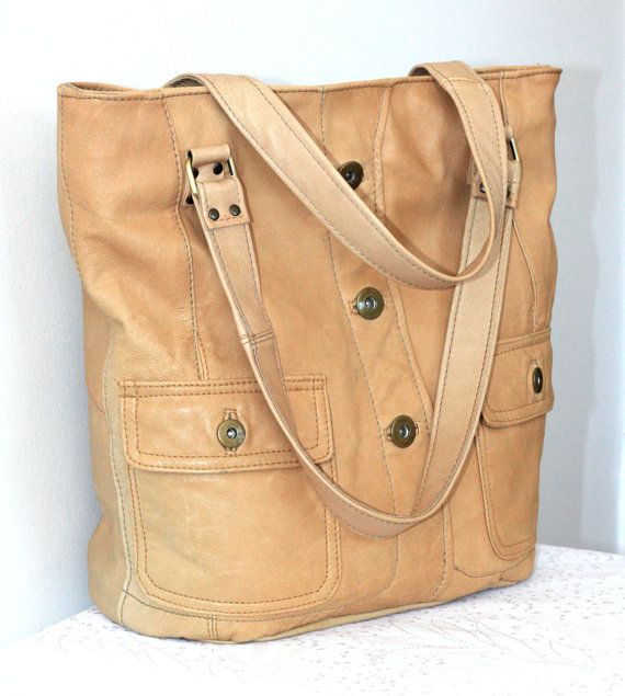 Handmade Large Leather Bag Hobo Bag Recycled Leather by byBessert