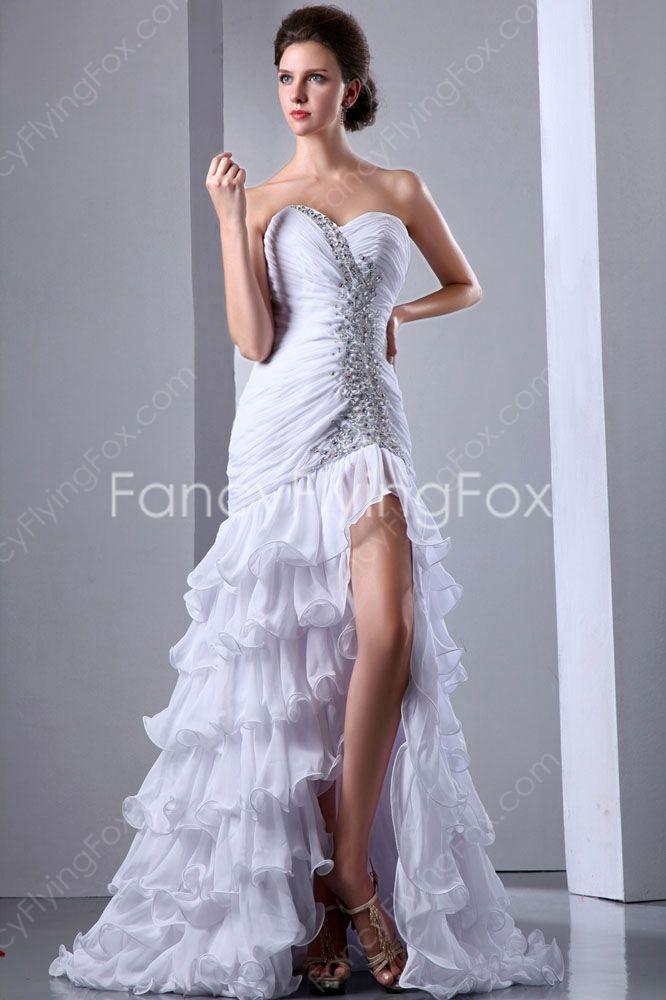 Stunning Sweetheart Dropped Hawaii Beach Wedding Dresses Front Split At Fancyflyingfox