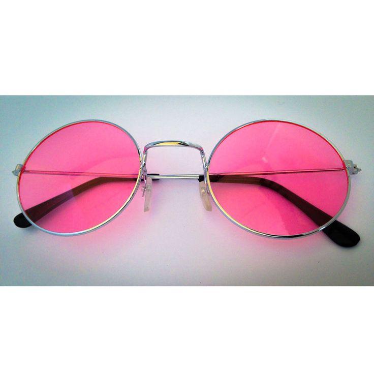 John Lennon Hippie Brille Sonnenbrille Flower Power  60er 70er Peace - rosa in Feierlichkeiten / Anlässe   • Karneval Fasching Party • Brillen