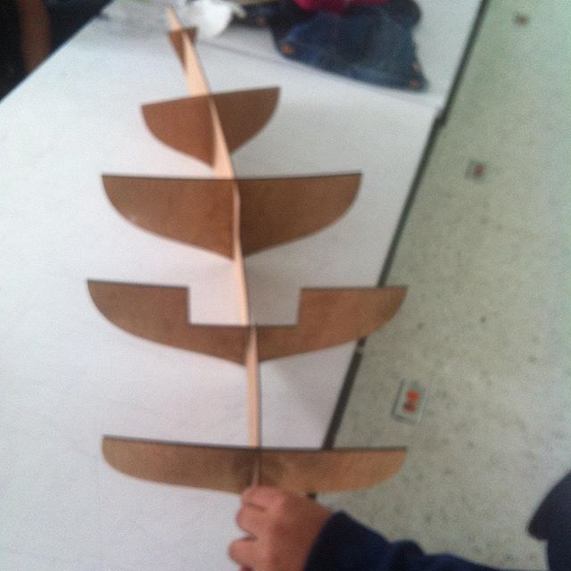 Day 2, laser cut ribs of hull