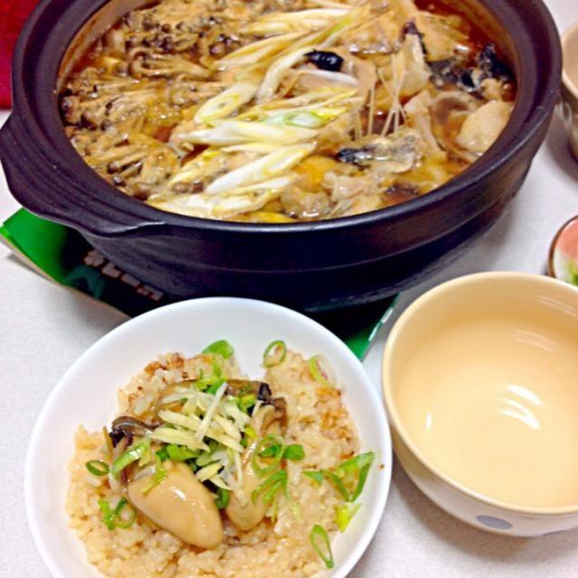 冬と言ったらあんこう鍋&牡蠣‼ - 8件のもぐもぐ - あんこう鍋と牡蠣ごはん by キャラ弁とおつまみ