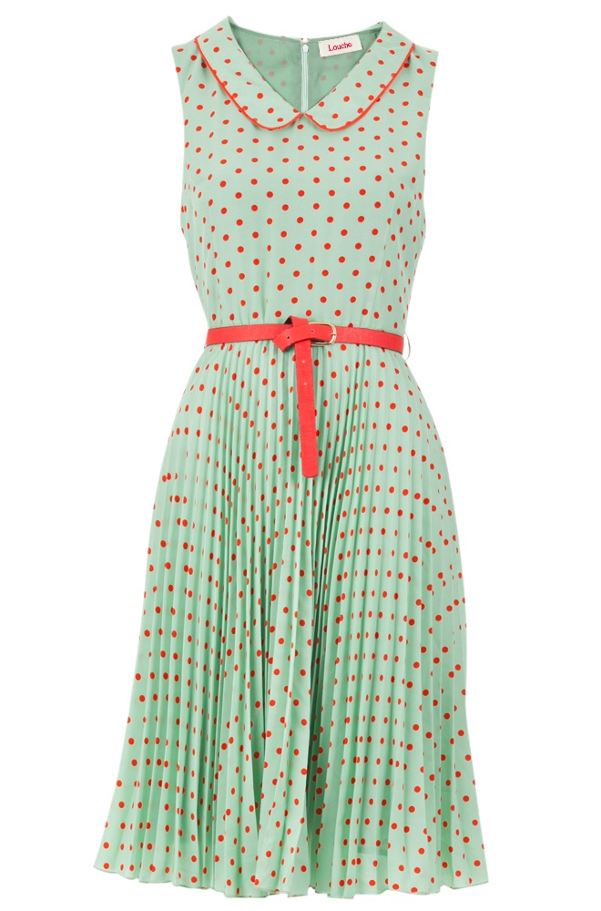 Ditsy spot tea dress by Louche