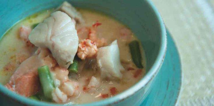 Suppe med reker og koriander (needs tweeking for AIP)