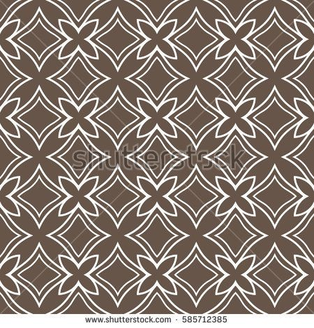 geometric flower. floral seamless pattern. vector illustration. for interior design, invitation, wallpaper, textile. brown, white color