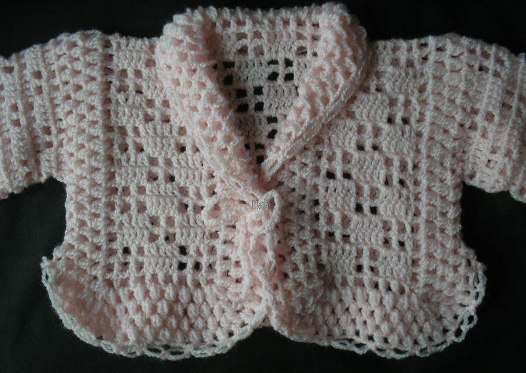 Casaquinho em croche com a lã super bebê   ag.1,75mm   Sapatinho: AQUI                                                                  ...