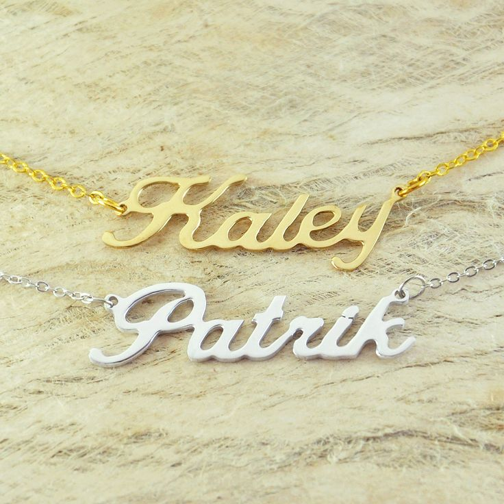 Find More Pendant Necklaces Information about Custom Alloy necklace name  necklace special gift for your love unique gift personalized necklace,High Quality necklace wood,China gifts hot Suppliers, Cheap necklace silk from Buy Any Thing on Aliexpress.com