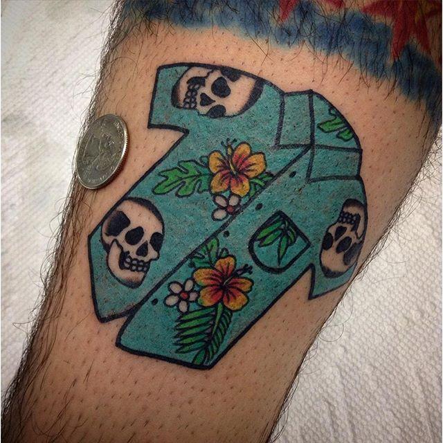 Hawaii shirt tattoo by #AndrewMongenas