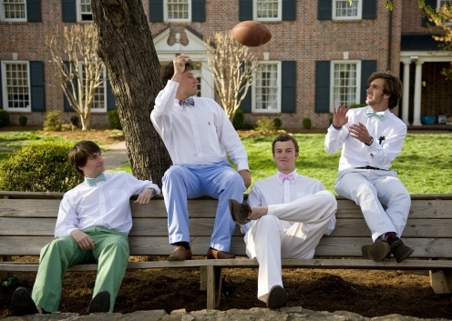 Springtime on the lawn..........My brothers frat housee...