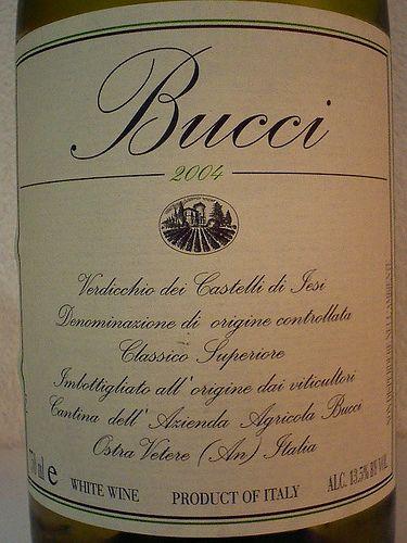 #Bucci, #vino #Verdicchio Castelli di Jesi, 2004