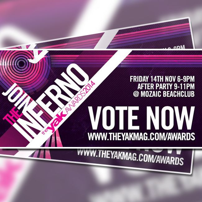 Who's been nominated best Sunset Venue for the Yak awards? Yep Cocoon..click the link and get voting.  theyakmag.com/yak-awards-2014